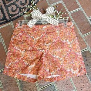 3/$35  Talbots Paisley Shorts